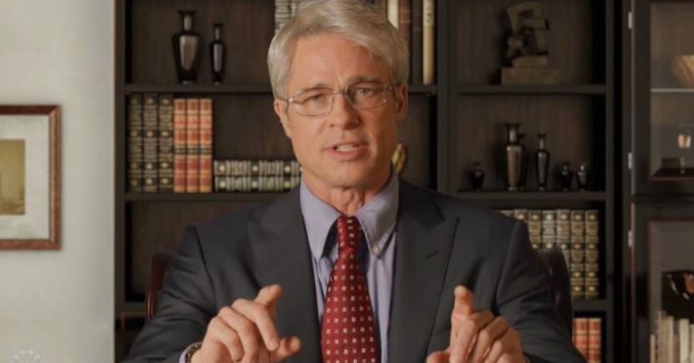 Brad Pitt Scores Emmy Nomination for Playing Dr. Fauci on 'SNL'
