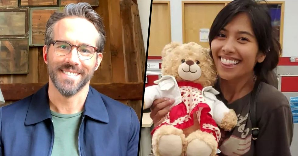 Ryan Reynolds Reunites Woman With Priceless Teddy Bear After Offering $5,000 Ransom