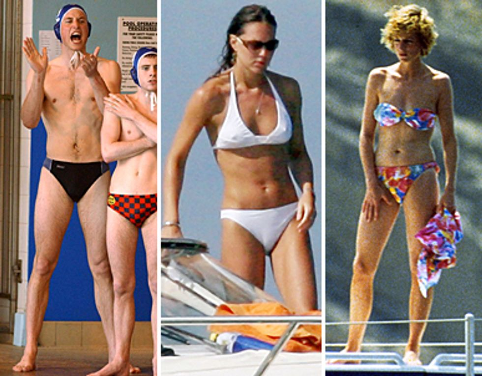 Bikini-clad Royals and Queen T-shirts In Today's Style Scraps