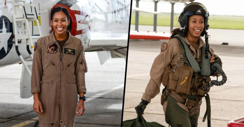 US Navy's First Black Female Pilot Received Her 'Wings of Gold'