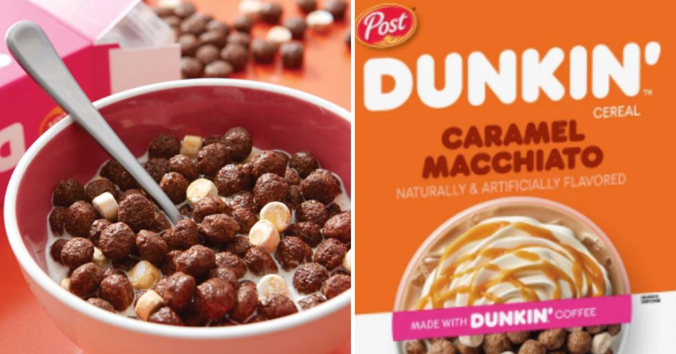 Dunkin' Just Unveiled Coffee-Flavored Cereals That Actually Contain Coffee