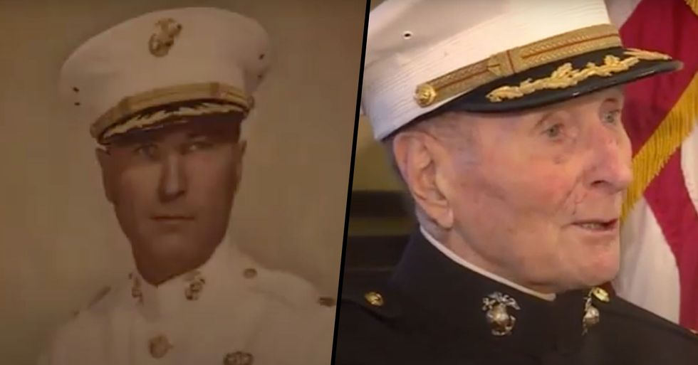Oldest Living U.S. Marine Turns 105 Years Old