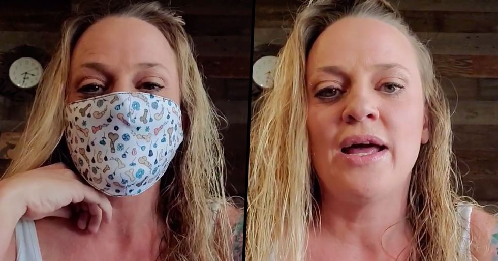 Utah Mom's Clever Mask Trick Is How She Tells People Are 'Too Close'