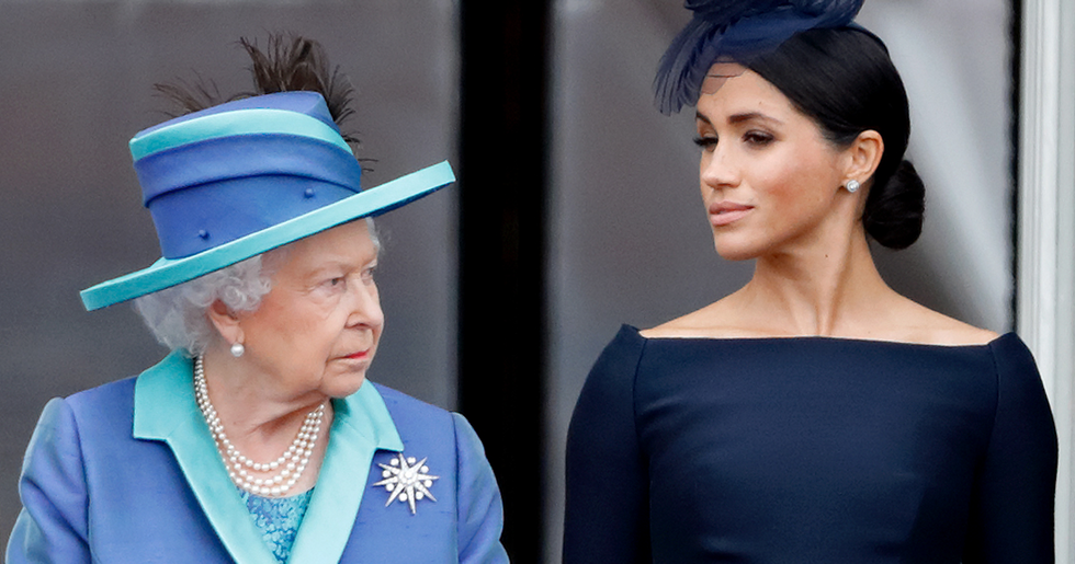 Queen Slammed For Her 'Disgraceful' Birthday Message To Meghan Markle
