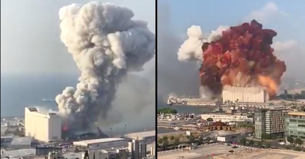 Huge Explosion Shakes Beirut in Lebanon Sparking Mass Panic