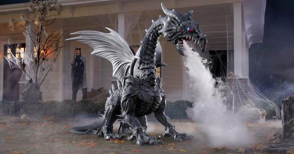 Home Depot Is Selling a Giant Dragon That Breathes Fog for Halloween