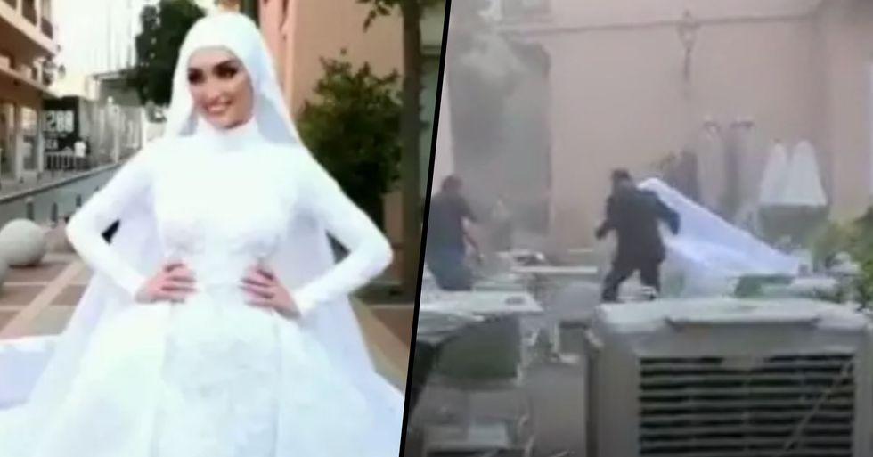 Bride Runs for Her Life as Beirut Explosion Rips Through Wedding Photoshoot