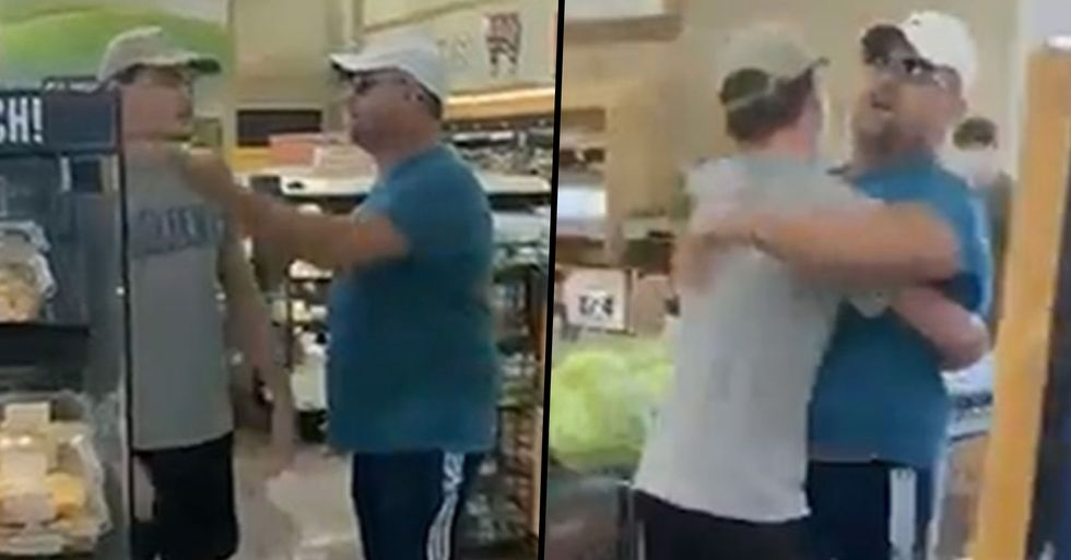 Dad's Anti-Mask Rant Ends With Son Carrying Him Out of Store