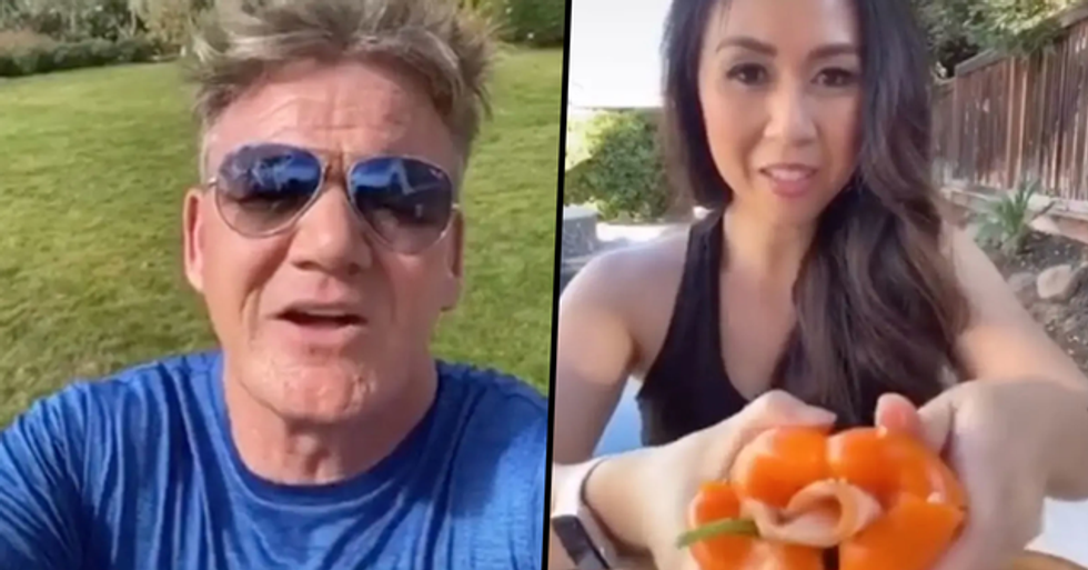 Gordon Ramsay Called a TikTok User's Healthy Creation an 'Idiot Sandwich' After She Used Bell Peppers Instead of Bread