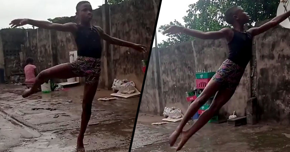 11-Year-Old Boy From Nigeria Receives Scholarship From New York School of Dance After His Barefoot Ballet Dance