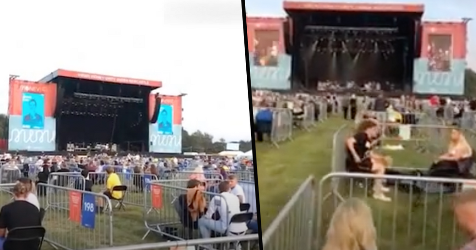 Pictures of First Ever Socially Distant Concert Could be The Future
