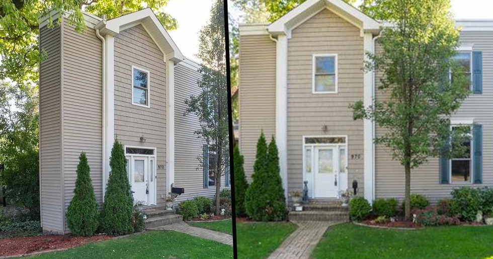 'Skinny' House Leaves Social Media Users Confused and Questioning How Someone Lives There