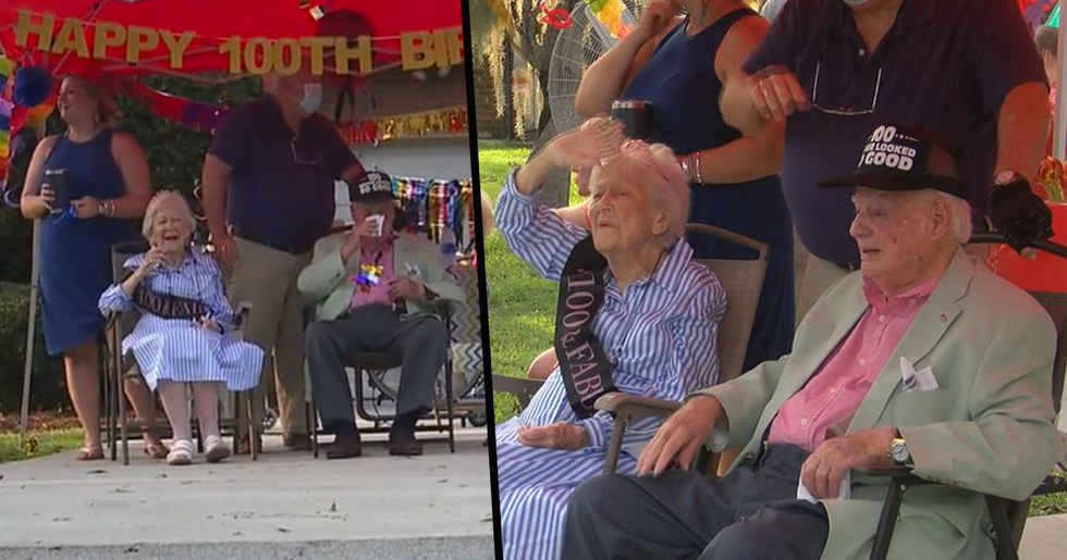 Husband And Wife Born Four Days Apart Celebrate Their 100th Birthdays After 80 Years Married