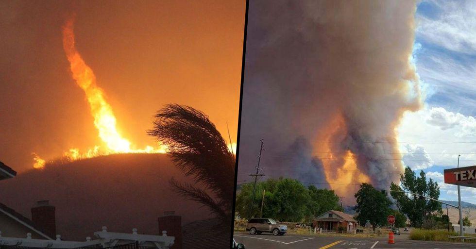 Freak Fire Tornado Warning Issued as Spinning Blazes Sweep California