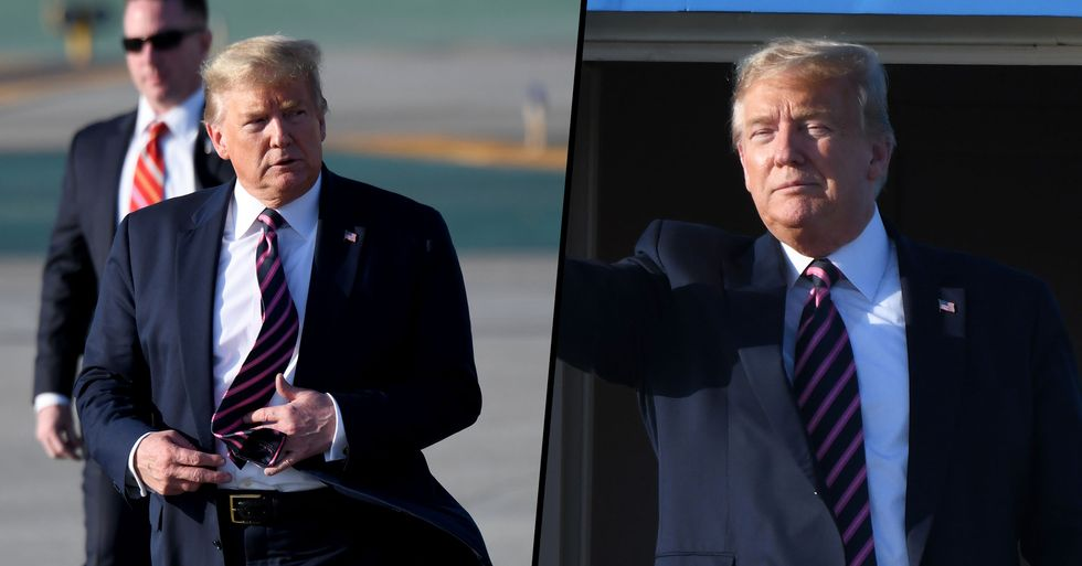 'Drone' Almost Hits Air Force One With President Trump, Melania and Barron on Board