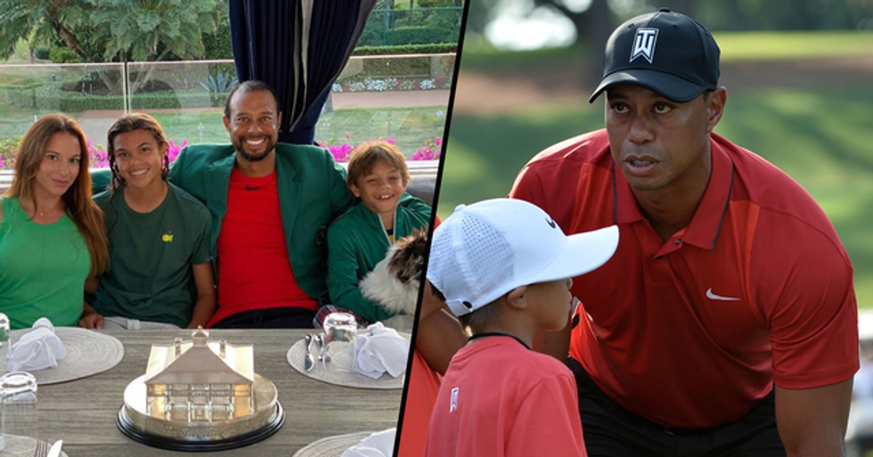 Tiger Woods' 11-Year-Old Son Charlie Wins Junior Golf Tournament With His Dad by His Side