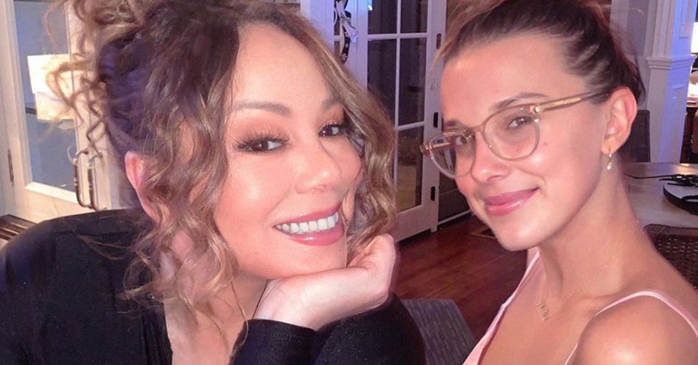 People Are Furious Over Picture of Millie Bobby Brown and Mariah Carey