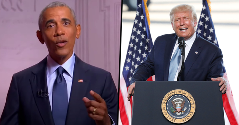 Obama Calls Trump's Presidency a 'Reality Show' in Scathing Speech