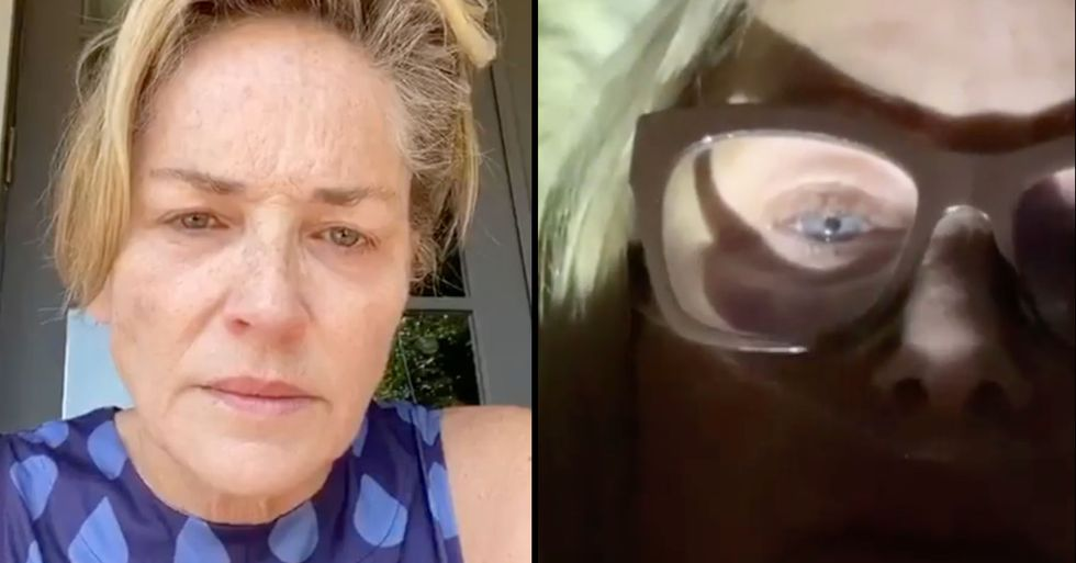 Sharon Stone Shares Video of Sister Kelly 'Gasping' for Breath From Coronavirus Hospital Bed