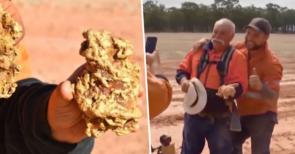Family Dig up a Fortune After Finding Two Giant Gold Nuggets Worth $350,000
