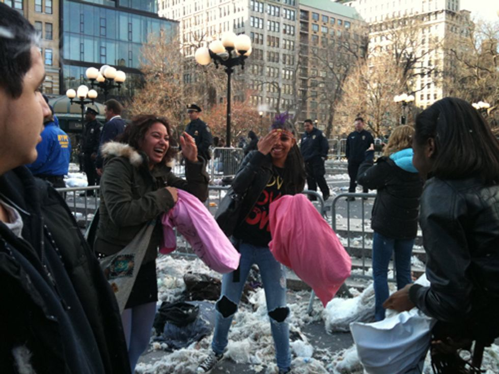 Scenes from the New York City Pillow Fight in Union Square
