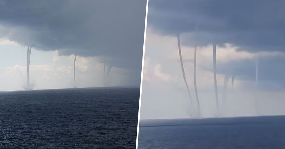 Mesmerizing Footage Shows Six Waterspouts in the Gulf of Mexico