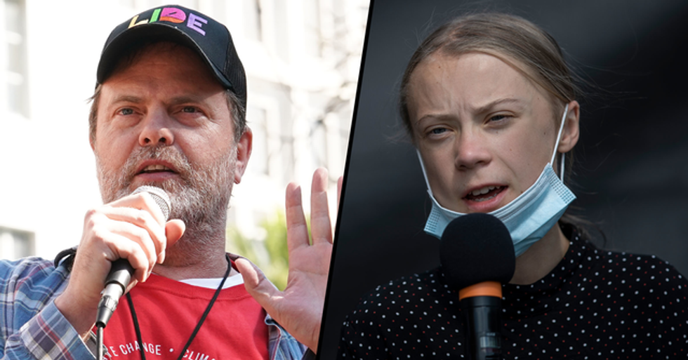 Rainn Wilson Agrees With Greta Thunberg That We're Not Doing Enough To Save the Planet