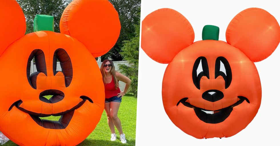 Lowe's Is Selling a Giant Mickey Mouse Pumpkin Inflatable and It's a Halloween Must-Have