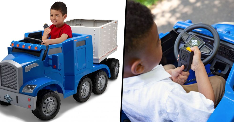 You Can Now Get a Battery-Operated Semi-Truck for Your Child That Actually Hauls Things Around