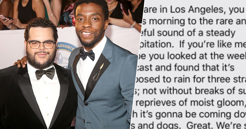 Chadwick Boseman's Co-Star Josh Gad Shares Final Text Chadwick Sent Him