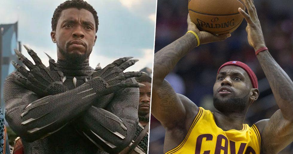 LeBron James Pays Tribute to Chadwick Boseman With Wakanda Forever Salute