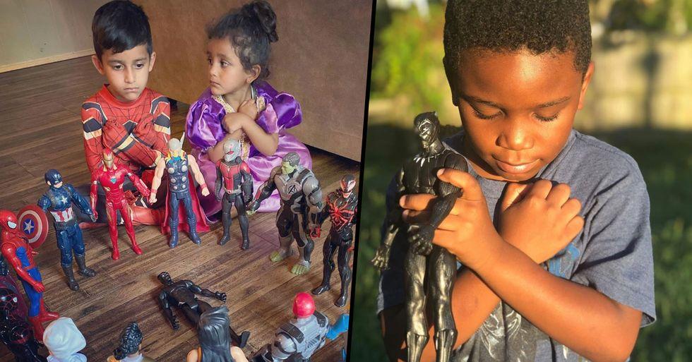 Children Honor Chadwick Boseman With 'Avengers' Action Figure Memorials