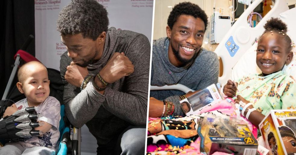 Chadwick Boseman Visited Terminally Ill Children While Secretly Battling Cancer Himself