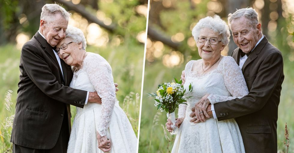 Couple Celebrates 60th Anniversary With Photo Shoot in Original Wedding Attire