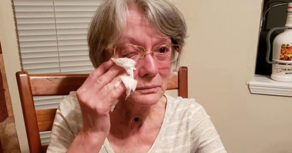 Mom Told To Leave Bingo Hall for Not Covering Neck Hole That Helps Her Breathe