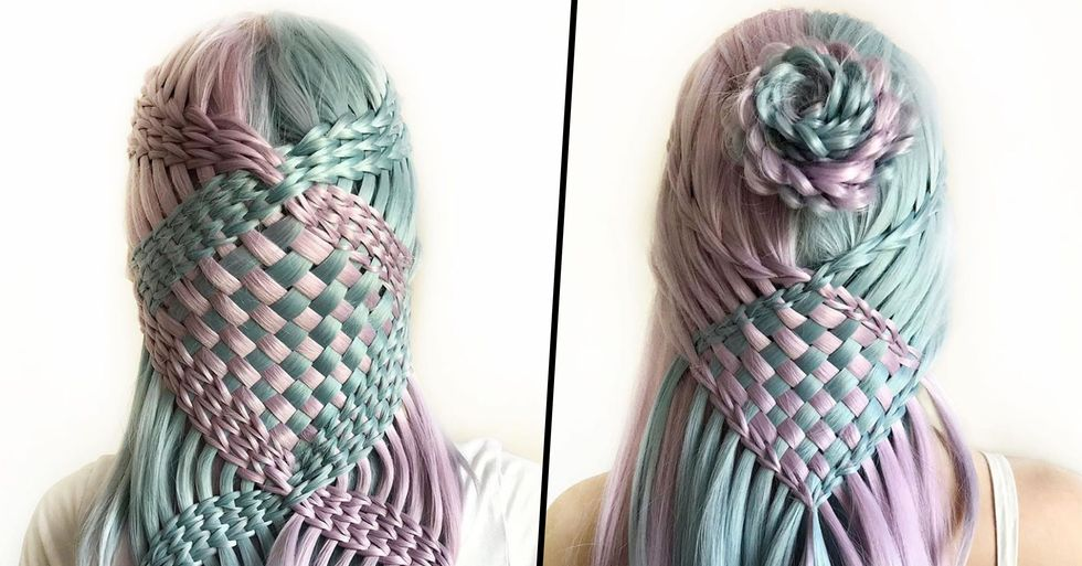 Teenager Creates Mesmerizing Hairstyles That Looks Like Crocheted Patterns