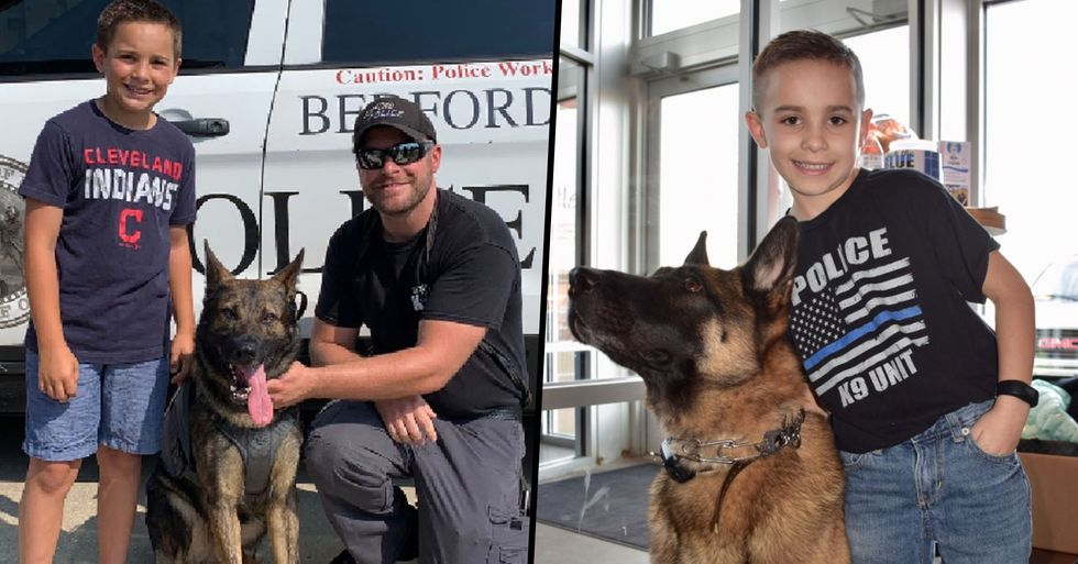 10-Year-Old Boy Raises More Than $315,000 to Provide Bullet Proof Vests to Police Dogs