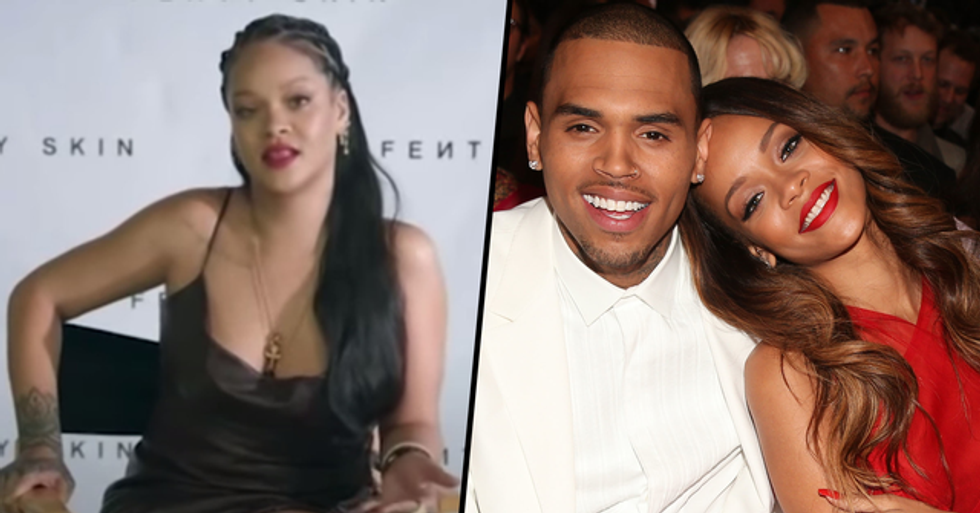 Rihanna Tells Oprah She Still Loves Chris Brown and They're Friends Again