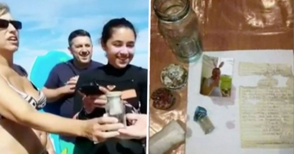 Family Find Man's Ashes With a Note in a Bottle Floating in the Sea