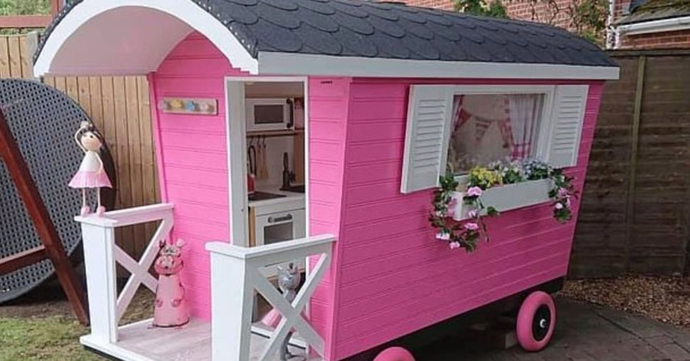 Grandfather Spends Lockdown Building Incredible Playhouse for Granddaughter