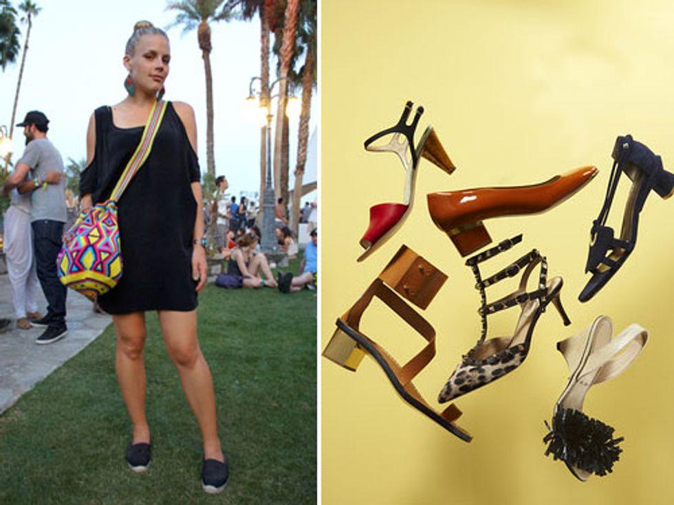 Coachella's Best-Dressed + Low Heels Are the New High Heels in Today's Style Scraps