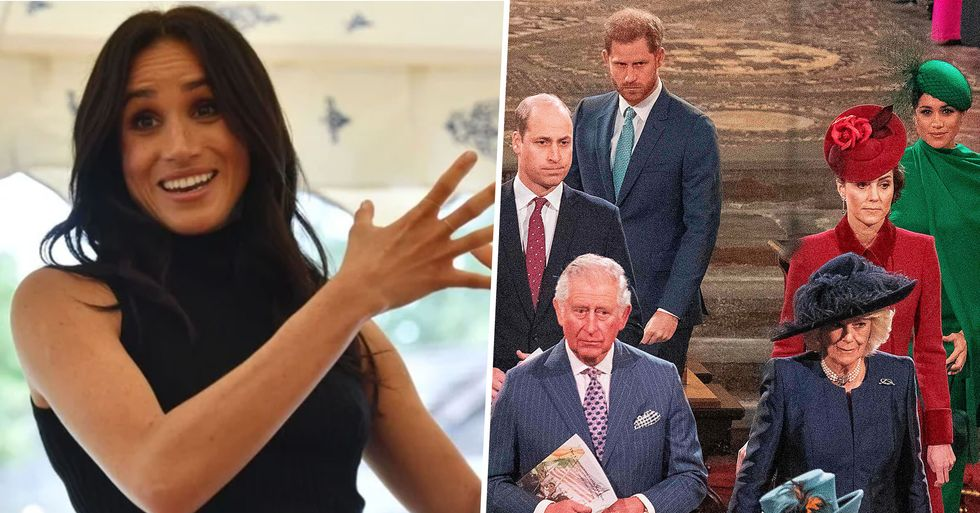 Meghan Markle Asked 'Don't I Have a Voice?' at Event With Harry, Kate, and William