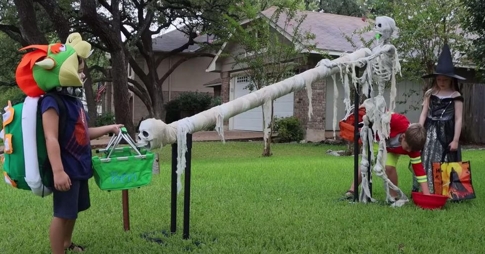 Parents Create 'Candy Slide' For Safe Trick-Or-Treating This Halloween