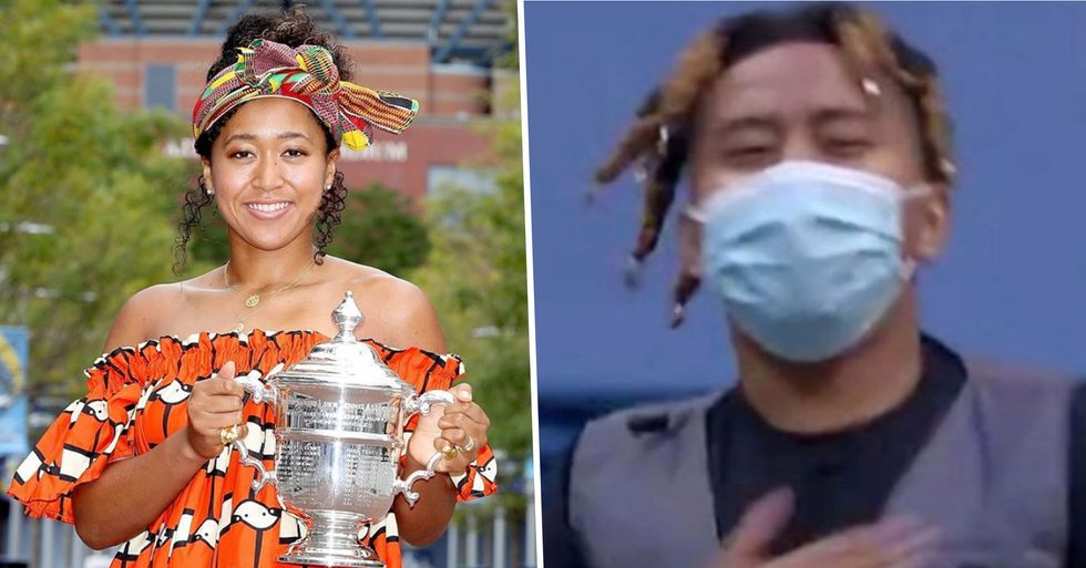 Naomi Osaka's Boyfriend Couldn't Contain His Excitement After She Won the US Open