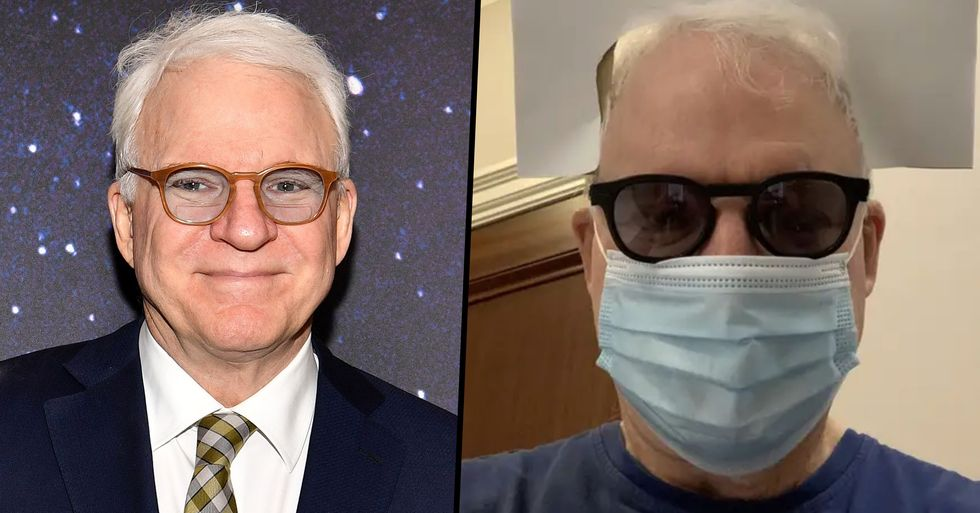 Steve Martin Had the Best Solution To Being Unrecognizable With a Face Mask on