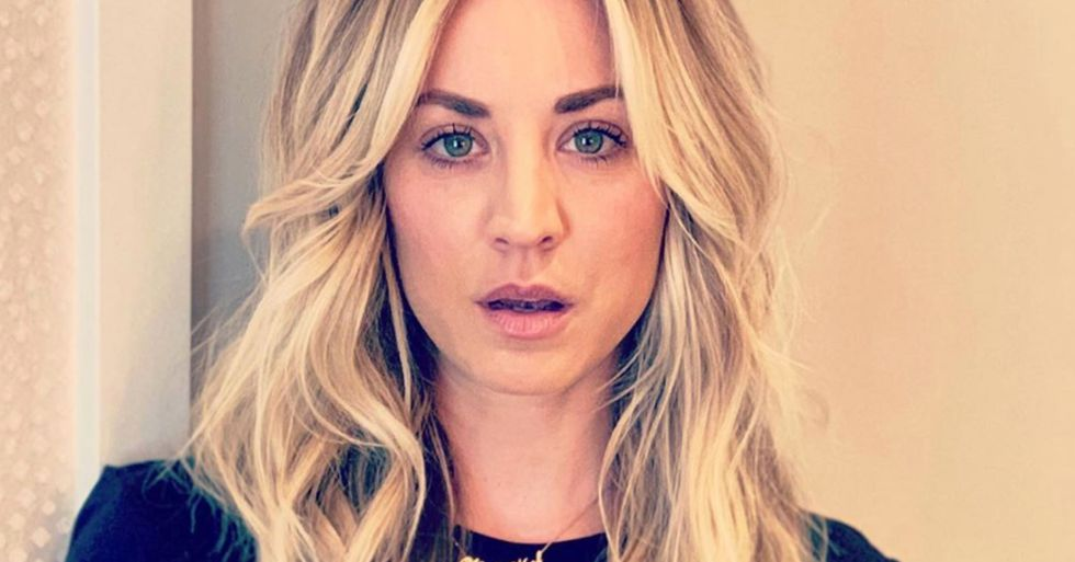 Kaley Cuoco Responds After People Criticized Her for Wearing a Mask While Working Out
