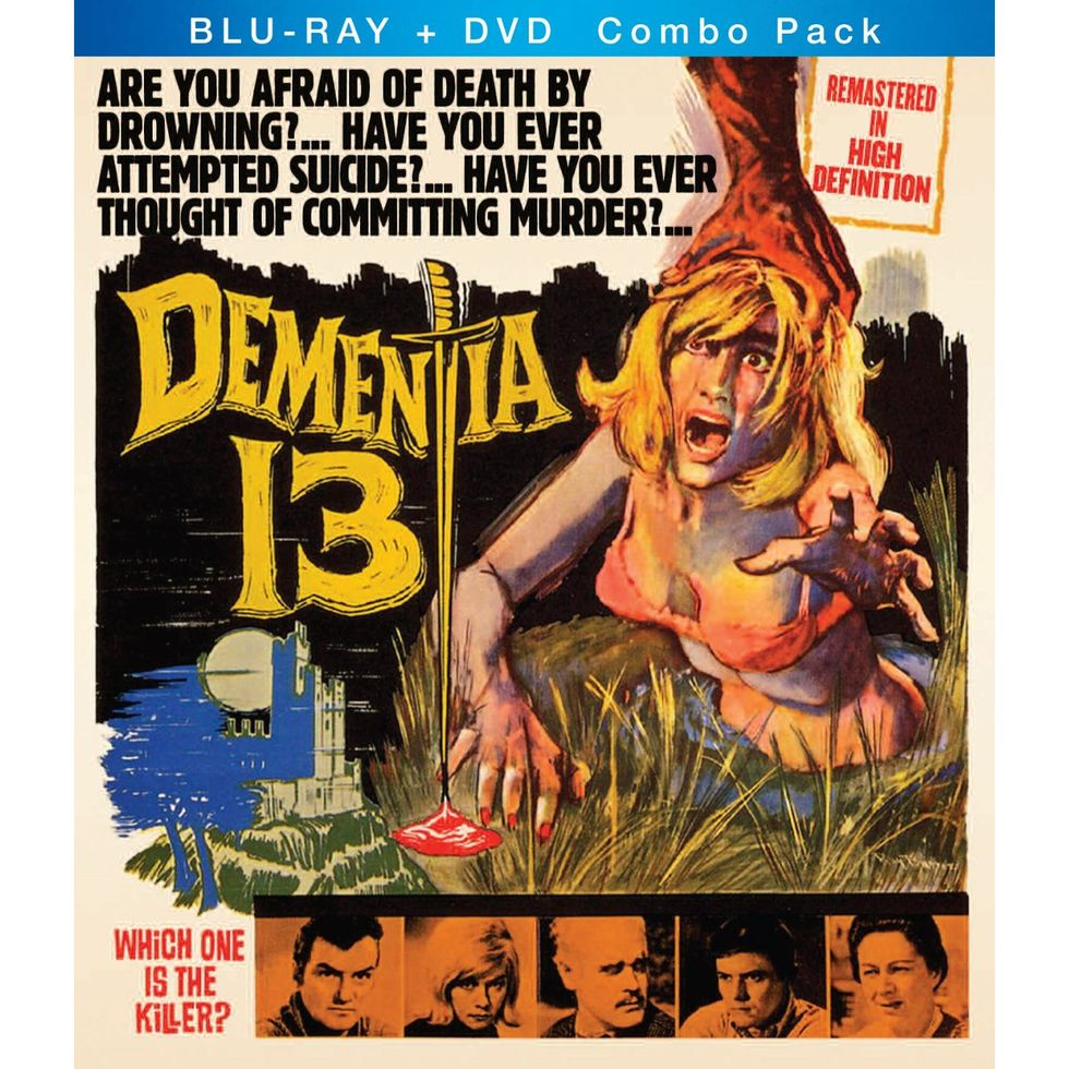 Beautifully Restored Dementia 13 and The Terror On Blu-ray/DVD Combos