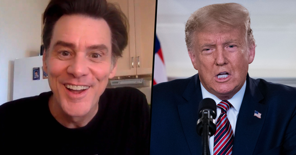 Jim Carrey Tells 'Snowflakes' To Form a 'Blizzard' To Get Trump Out of Office in Scathing Essay
