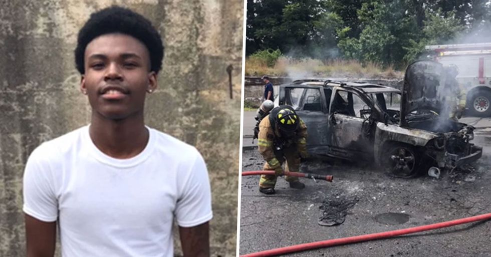 Teen Saves Mother and Her 3 Children by Pulling Them Out of Their Burning Car