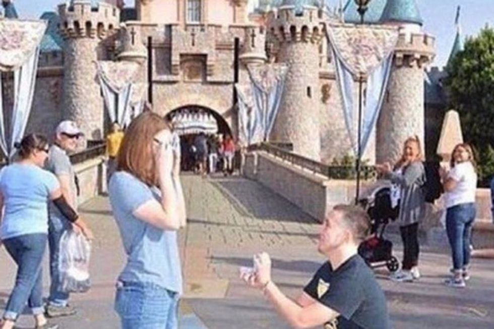 Couple Ridiculed for 'Unoriginal' Disney Proposal as Another Man Proposes Behind Them